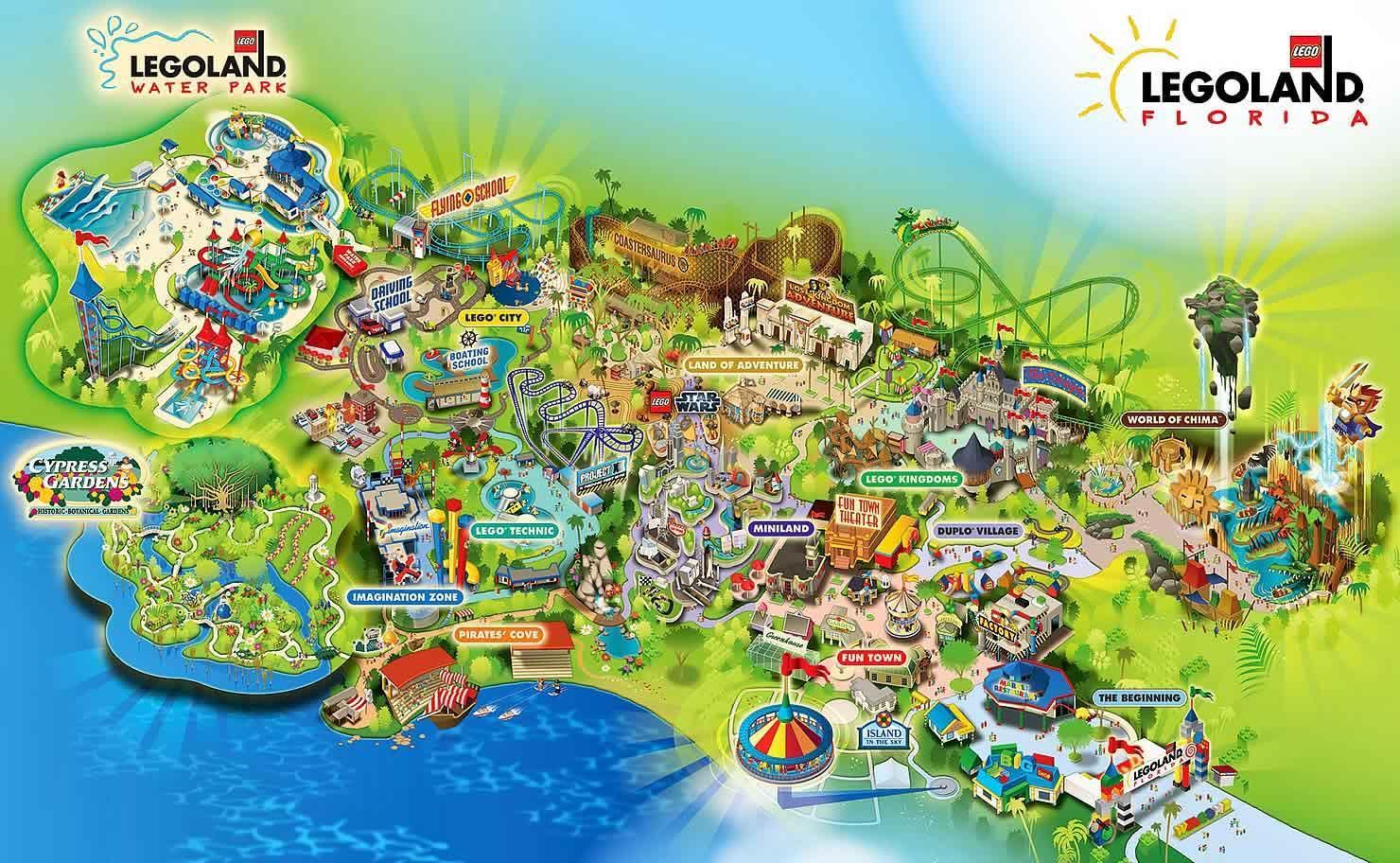 Legoland Tanska Kartta Tanskan Legoland Kartta Pohjois Eurooppa