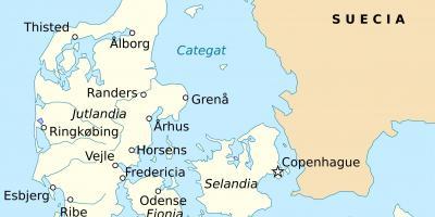 Tanska Kartta Kartat Tanska Pohjois Eurooppa Eurooppa